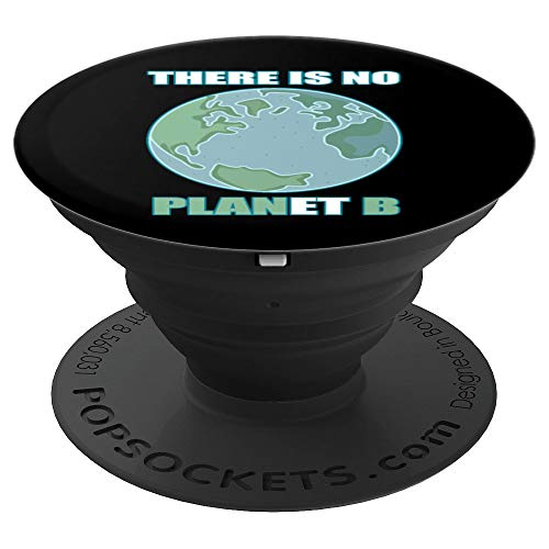 There Is No Planet B T-Shirt Nature Earth Camping - PopSockets Grip and Stand for Phones and Tablets ()