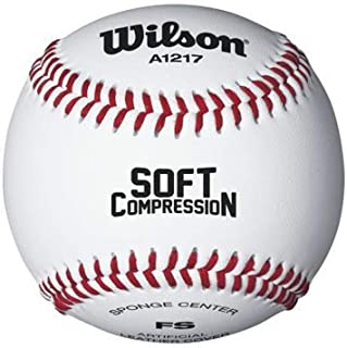 Wilson A1217 Soft Compression Baseball , White by Wilson