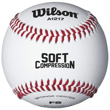 Wilson A1217 Soft Compression Baseball , White by Wilson Wilson Sporting Goods - Team