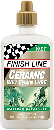 Finish Line Ceramic WET Bicycle Chain Lube, 4-Ounce Drip Squeeze Bottle ()