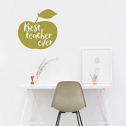 CECILIAPATER Best Teacher Ever, Wall Decal, Wall Quote, Wall Sticker, Teachers Pet, Gift for Teachers, End of Year, Apple Decal, Apple Sticker, Wall Art
