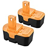 2Pack P100 Battery for Ryobi 18V 3600mAh Replacement Battery Ni-MH One+ Plus P101 ABP1801 ABP1803 130224028 130224007 Cordless Power Tools