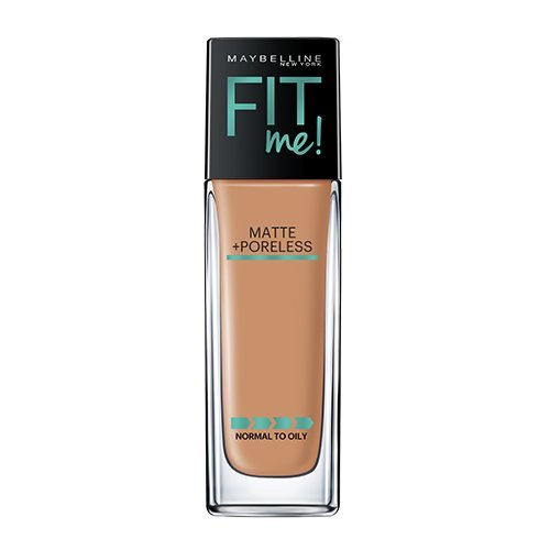 Maybelline Makeup Fit Me Matte + Poreless Liquid Foundation Makeup, Toffee Shade, 1 fl oz