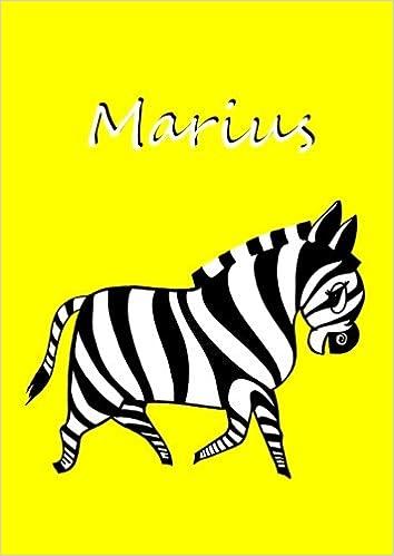 Notebook Coloring Book Diary Marius Zebra A4 Blank