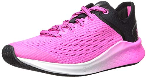 New Balance Kids' Fast V1 Fresh Foam Running Shoe, Black/Peony, 3 W US Little Kid