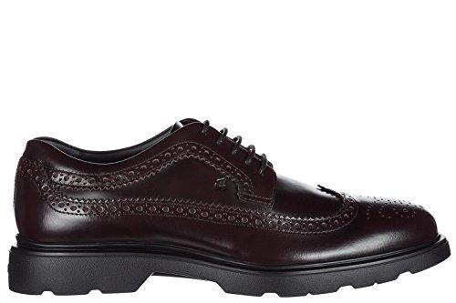 Hogan Clásico Zapatos de Cordones Hombres EN Piel Nuevo h304 Route Derby Marrón