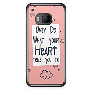 HTC One M9 Transparent Edge Phone Case Heart Phone Case Heart Tells You Phone Case Teen M9 Cover with Transparent Frame