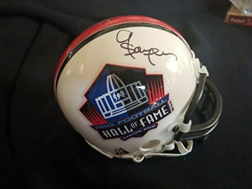 gale sayers signed mini helmet - 5