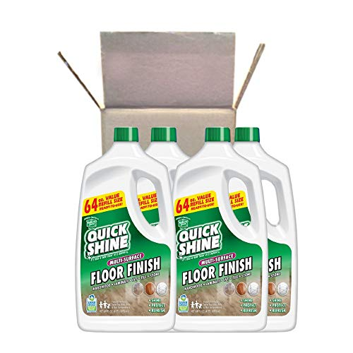 Quick Shine Multi-Surface Floor Finish and Polish, 64 Ounce, 4 Pack, 64 Fl Oz