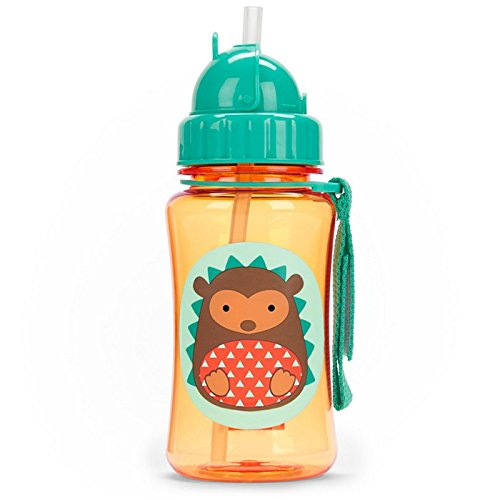 Skip Hop Straw Cup, Toddler Transition Sippy Cup, Fox 252338