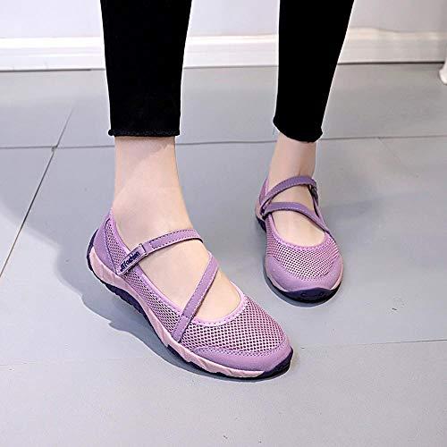 Woven Donna Rete Women 40 Viola35 Casual A Rosa nero fashion Rosa stivaletti Leggere Comode scarpe Flying Scarpe sneakers qwrYq7
