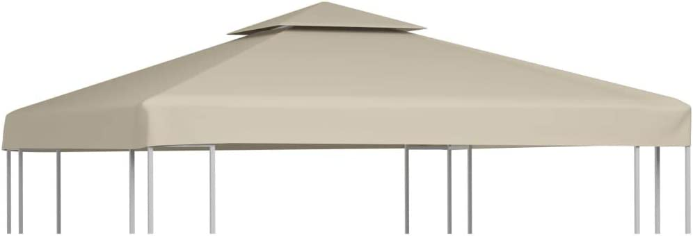 vidaXL Toldo de Cenador de Repuesto Tela Impermeable Beige 3x3 m ...