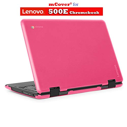 mCover Hard Shell Case for 2018 11.6 Lenovo 500E Series 2-in-1 Chromebook Laptop (NOT Fitting Lenovo N21 / N22 / N23 /100E / 300E / Flex 11 Chromebook) (C500E Pink)