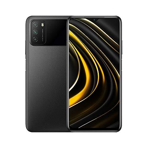 Poco M3 Unlocked Cell Phone | OS Android 10,Qualcomm SM6115 Snapdragon | 662Battery Li-Po 6000 mAh | Dual SIM | GSM - International Version | (Black, 64)