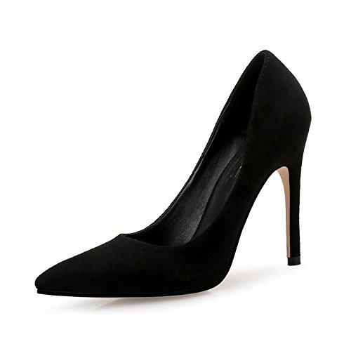 A 37 EU FLYRCX Talons Pointus Talons Aiguilles en Daim Sexy Bouche légère Chaussures Simples