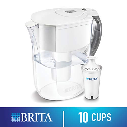 Brita Large 10 Cup Water Filter Pitcher with 1 Standard Filter, BPA Free – Grand, ()