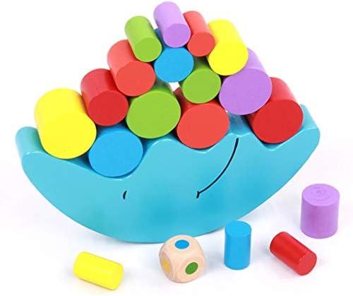木製月ボートビルディングブロック子供のスタッキングスタッキングバランスゲーム赤ちゃんの思考は、教育玩具を作成します