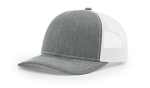 e30fd104f21 Richardson 112 Heather Grey  White Mesh Back Trucker Cap Snapback Hat from  Richardson
