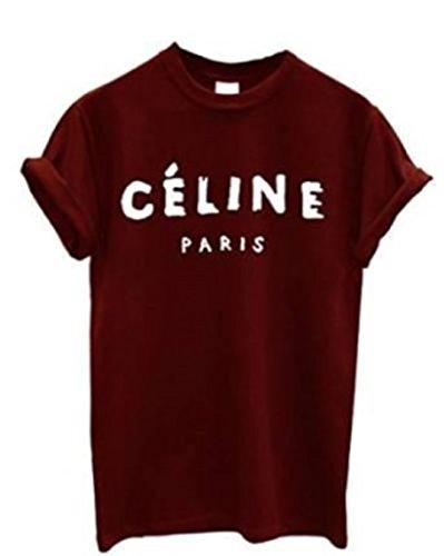 Celine Paris Unisex Top T-shirt Rihanna Swag Comme Des Fuckdown Geek Meow - Celine Tops Paris
