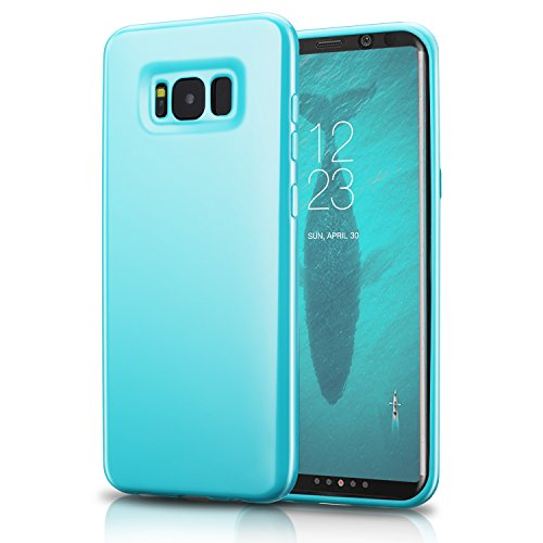 Technext020 Ultra Slim Fit Silicone Phone Case Compatible for Galaxy S8, Turquoise