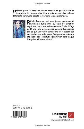 Poèmes Pour Le Bonheur Amazones Rihab Tammar Libros En