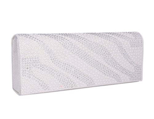 Gold Clutch Simple Adoptfade With Womens Diamanete White Style 1q0gw0R