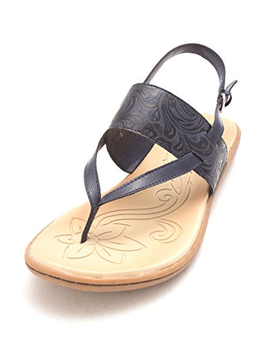 B.O.C Womens Sharin Open Toe Casual Slingback Sandals Navy/Ocean Tooled WpOl8