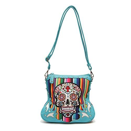Blue Multi Color Handbag - 8