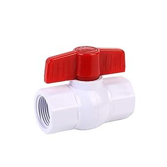 Available 1//2,3//4,1.25,1.5,2 Compact Single Handle Water Shut-Off Valves Slip SHYOKO 1 Inline PVC Ball Valve