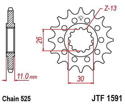 JT Front Sprocket JTF1591 16 Teeth fits Yamaha MT-09 SP MTN850 D 1RC,2SC 18