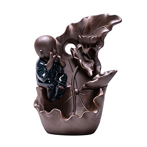 1723 Air - FHXXMei Backflow Incense Burner/Ceramic Small Monk Aromatherapy Furnace Home Office teahouse Decorations/Purifying air 1723cm