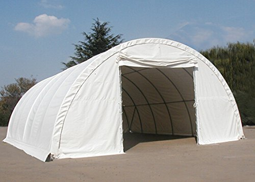 Hay Storage Building Shelter 22oz Tent Barn 30' x 65' HD Galvanized Steel by Mytee