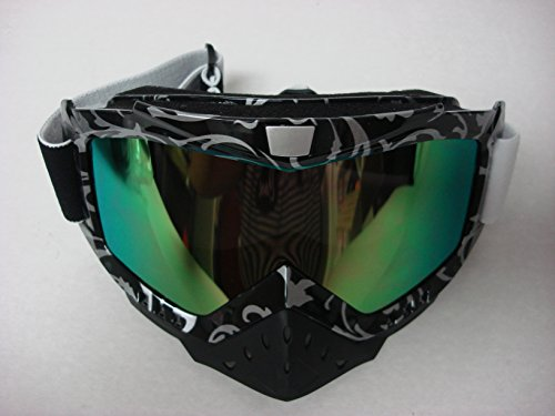 Motocross ATV Dirt Bike Off-road Racing Mx Black/silver Goggles Honda Yamaha KTM UTV Tinted Lens