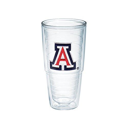 Tervis 1007079 Arizona University Emblem Individual Tumbler, 24 oz, Clear
