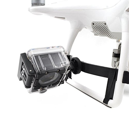 DJI Phantom 4 Accessories,Land Gear Holder L ED Light 360° Camera Side Expansion Bracket By Dacawin (Black) by Dacawin
