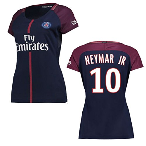 Paris Saint Germaine 2017/18 17 2018 PSG Neymar Women REPLICA Home and Third Jersey (Neymar Women Home, Small) by Unknown