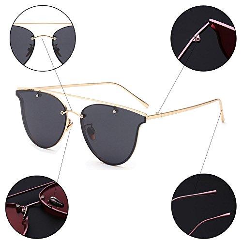 de plana lente de sol ligero verano Espejo mujer mujer gafas Black sol ultra Marco hombre playa de polarizadas hombre metal Gafas para P4TSA
