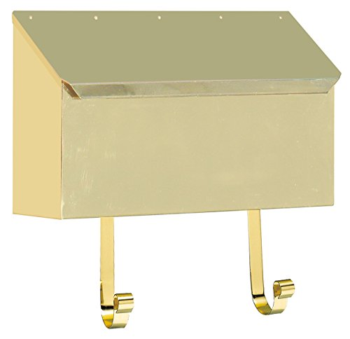 Qualarc MB-500-PB Horizontal Brass and Lacquer Finish Mailbox, Smooth Polished Brass Finish