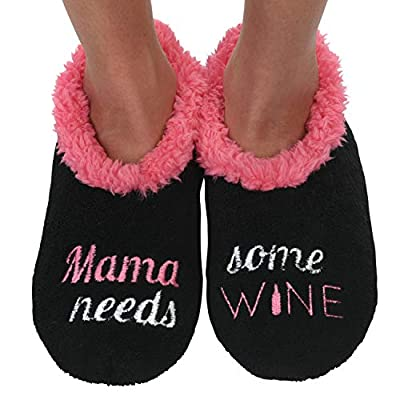 Snoozies Pairables Womens Slippers - House Slippers - Mama Needs Some Wine