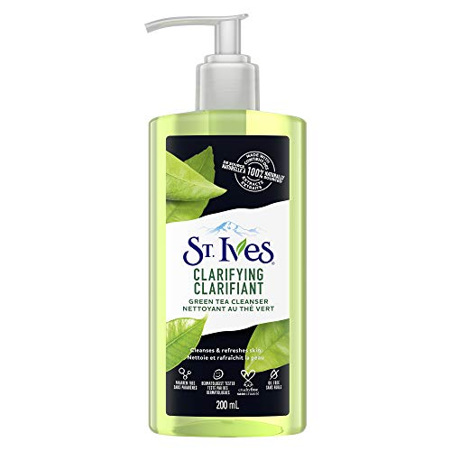 St. Ives Clarifying Facial Cleanser for clean and refreshed skin Green Tea 100% naturally sourced green tea extract