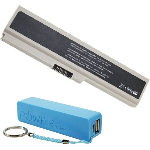 Toshiba PA3921U-1BRS Laptop Battery 60Wh 5600mAh (Extended Capacity) with free Mobile Power Stick - Premium Powerwarehouse Replacement Battery by Powerwarehouse (Image #1)