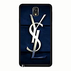 Awesome Style YSL Logo Samsung Galaxy Note 3 Phone Case,Yves Saint Laurent Logo Phone Case For Samsung Galaxy Note 3 Hard Plastic Case Cover