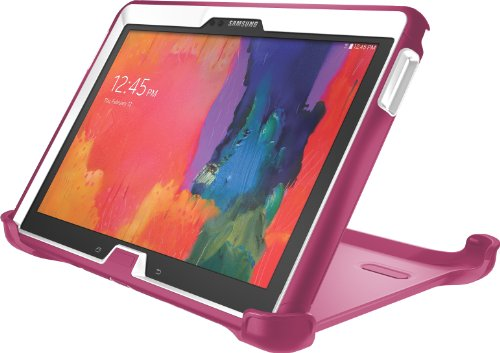 OtterBox Defender Series for Samsung Galaxy Tab Pro (10.1) and Galaxy Note 10.1, (White/Peony Pink) - Box White Tab