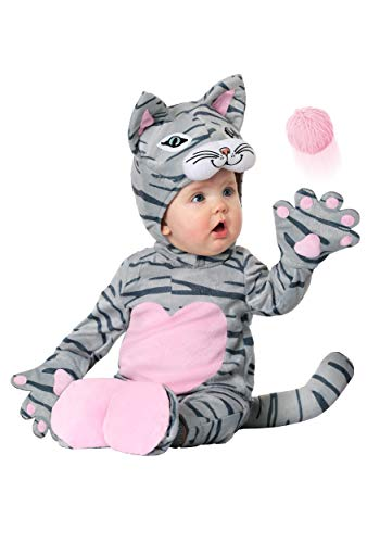 Infant Lovable Kitten Costume 6/9 Months Gray
