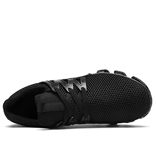 Sportive Ginnastica da Traspirante da da Leggera Uomo Scarpe Scarpe Passeggio Casual da LSGEGO Moda Corsa Nero Sneaker f7pqnwA