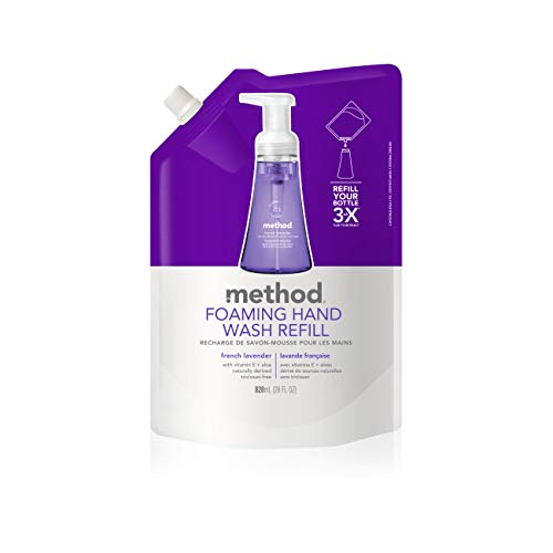 Method Foaming Hand Wash Refill, French Lavender, 28 Ounces (Pack of - Hand Method Foaming Wash Refill
