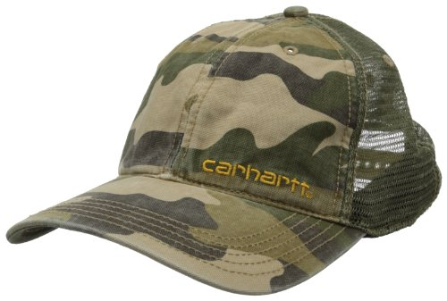 Rugged Cap Trucker - Carhartt Men's Brandt Cap,Rugged Khaki Camo,One Size