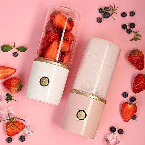 INTER FAST Blender Portable Juicer Cup/Blender Electrique Fruits/Blender USB Jus peut charger 6 Pièces de Lames 3D, Utilisé pour les Fruits et Légumes Protéines Shakes