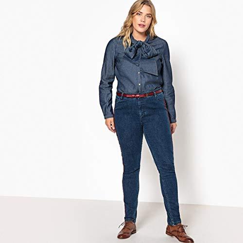 Stone Slim Donna Gambe Laterali Jeans Con Blu Ricami Castaluna BvPUwpqP