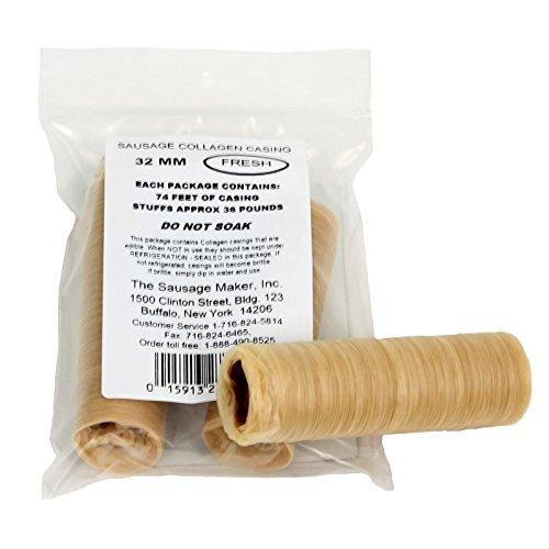 TSM Fresh Collagen Sausage Casings, 32mm (1 1/4'')